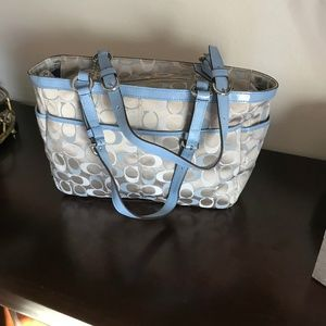 Coach Bags - Pre-Loved Coach Signature Fabric Shoulder Bag